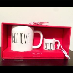 "Rae Dunn Christmas ""Believe"" Mug & Ornament Set"